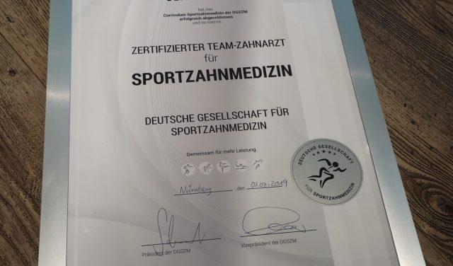 Offizielle Sportzahnärzte!